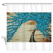 The Water Blossom Tree Shower Curtain