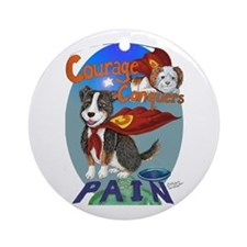 Courage Conquers Pain Ornament (Round)