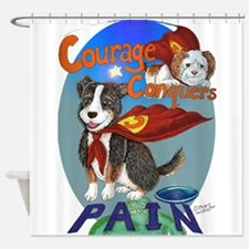Courage Conquers Pain Shower Curtain