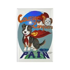 Courage Conquers Pain Rectangle Magnet