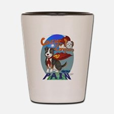 Courage Conquers Pain Shot Glass