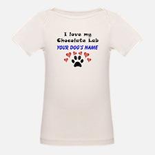 Custom I Love My Chocolate Lab T-Shirt