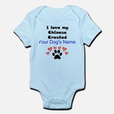 Custom I Love My Chinese Crested Body Suit