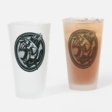 Distressed Wild Piranha Stamp Drinking Glass