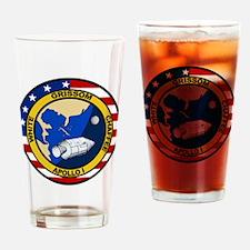 Apollo 1 Mission Patc Drinking Glass