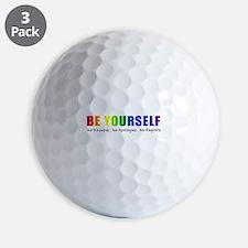 Be Yourself (Rainbow) Golf Ball
