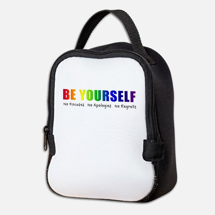 Be Yourself (Rainbow) Neoprene Lunch Bag