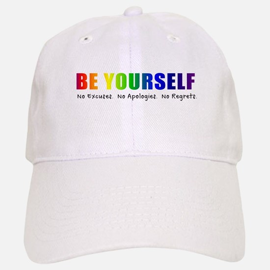 Be Yourself (Rainbow) Baseball Baseball Cap