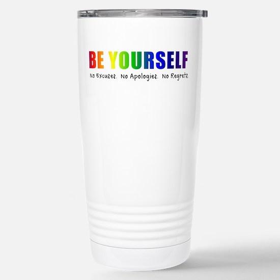 Be Yourself (Rainbow) Stainless Steel Travel Mug