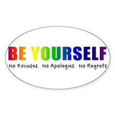 Be Yourself (Rainbow) Stickers