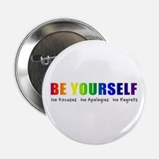 """Be Yourself (Rainbow) 2.25"""" Button (100 pack)"""