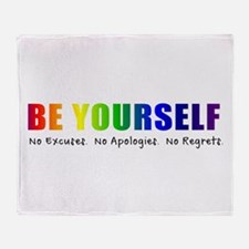 Be Yourself (Rainbow) Throw Blanket
