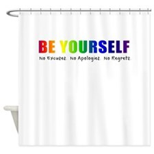 Be Yourself (Rainbow) Shower Curtain