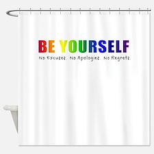 Be Yourself (Rainbow) Shower Curtain