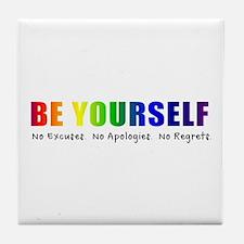 Be Yourself (Rainbow) Tile Coaster