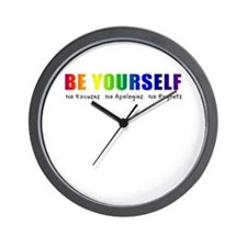 Be Yourself (Rainbow) Wall Clock