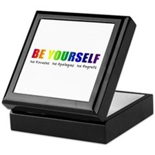 Be Yourself (Rainbow) Keepsake Box