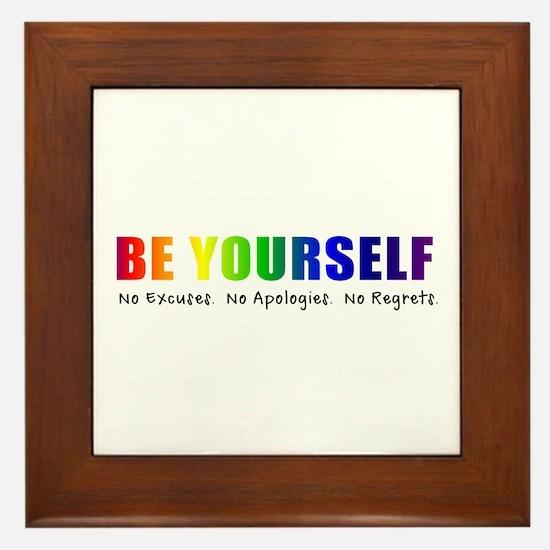Be Yourself (Rainbow) Framed Tile