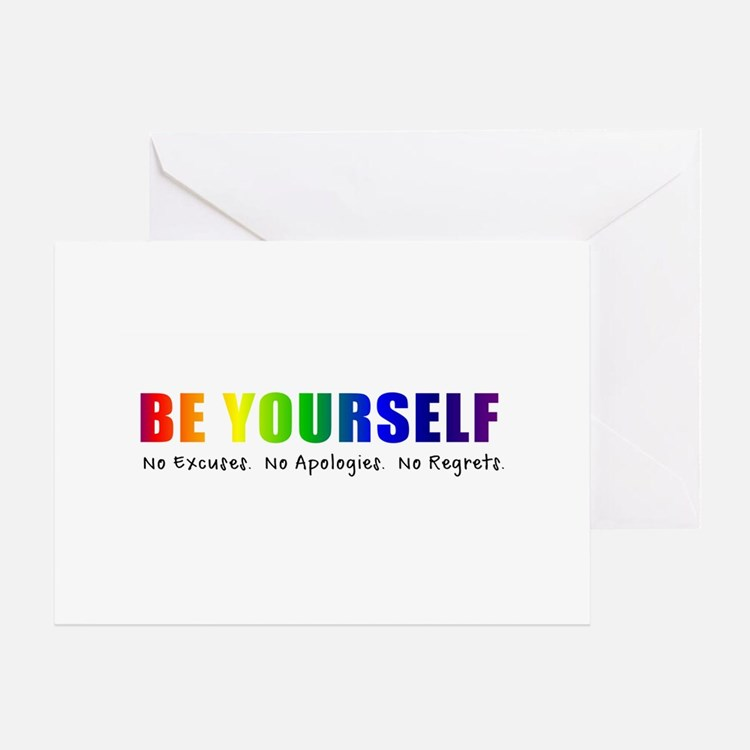 Be Yourself (Rainbow) Greeting Card