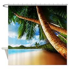 Beach Palm Tree Shower Curtain