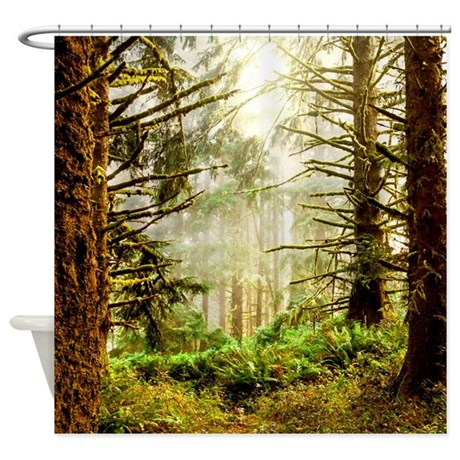 Forest green shower curtain by creativeconceptz for Forest green curtains drapes