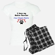 Custom I Love My Cairn Terrier Pajamas