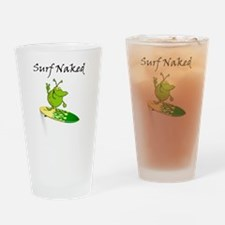 Surf Naked Drinking Glass