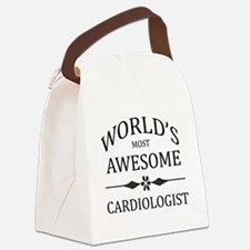 World's Most Awesome Cardiologist Canvas Lunch Bag