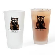 Evil Raccoon Drinking Glass