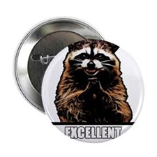 "Evil Raccoon 2.25"" Button"