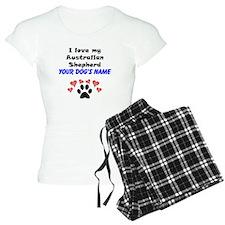 Custom I Love My Australian Shepherd Pajamas