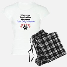 Custom I Love My Australian Shepherd Pajamas
