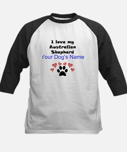 Custom I Love My Australian Shepherd Baseball Jers