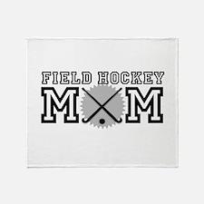 Field Hockey Mom Throw Blanket