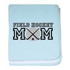 Field Hockey Mom baby blanket