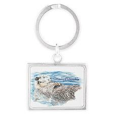 Otterly Adorable Humorous Cute Otter Animal Keycha