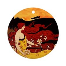 Orange Beauty Ornament (Round)