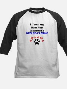 Custom I Love My Alaskan Malamute Baseball Jersey