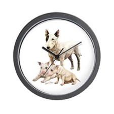 Unique Bull terriers Wall Clock