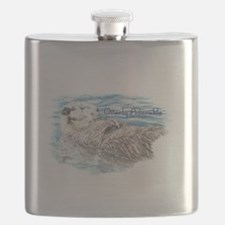 Otterly Adorable Humorous Cute Otter Animal Flask