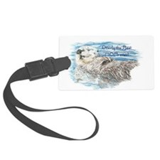 Otterly Best Mom ever Fun Quote Otter Luggage Tag