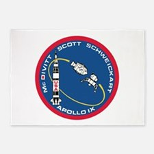 Apollo 9 Logo 5'x7'Area Rug