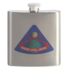 Apollo 8 Mission Logo Flask