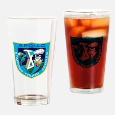 Apollo 10 Logo Drinking Glass