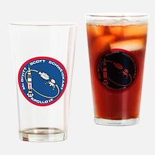 Apollo 9 Logo Drinking Glass