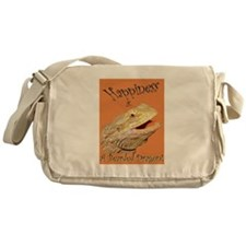 Happiness is a Bearded Dragon. Messenger Bag