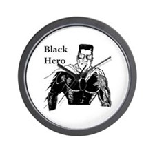 Black Hero Wall Clock