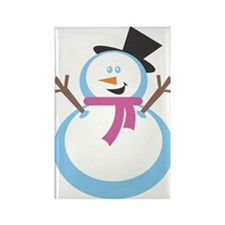 MERRY XMAS SNOWMAN Rectangle Magnet