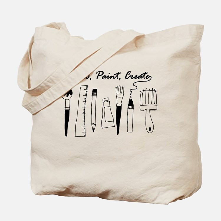 Draw Paint Create Tote Bag