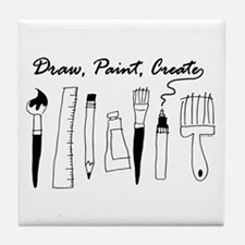Draw Paint Create Tile Coaster